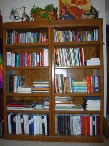 A portion of the author's books.