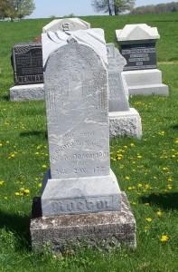George A. Roehm, Zion Lutheran Cemetery, Schumm, Van Wert County, Ohio. (2012 photo by Karen)