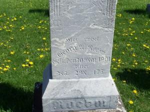George Adam Roehm, Zion Lutheran Cemetery, Schumm, Ohio. (2012 photo by Karen)