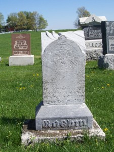 Eleanore Roehm, Zion Lutheran Cemetery, Schumm. (2012 photo by Karen)