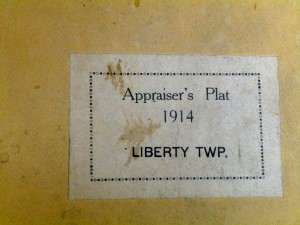 1914 Appraiser's Plat, Liberty Township, Mercer County, Ohio.