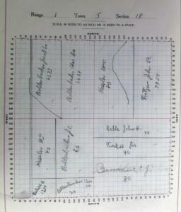 Section 18, Liberty Township, 1914 Appraiser's Plat Book.