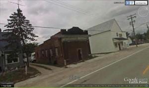 Former Bollenbacher Grocery, Google Earth, October 2008 photo.