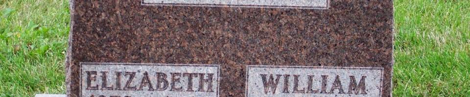 William & Elizabeth Heffner, Zion Lutheran Cemetery, Mercer County, Ohio. (2011 photo by Karen)