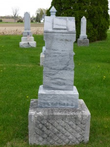 Tombstone of John & Christina Koch, William's parents, St. John's Cemetery, Auglaize County. (2015 photo by Karen)