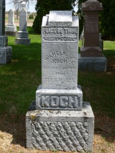 William A. Koch, St. John's Lutheran Cemetery, Auglaize County, Ohio. (2015 photo by Karen)