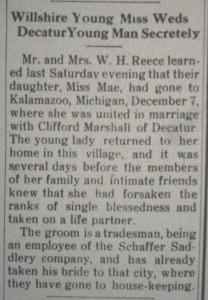 The Willshire Herald, 21 December 1922, p.1.