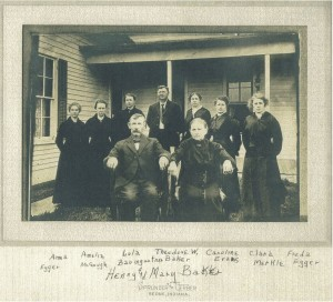 Henry & Mary (Manche) Baker. Children: Anna, Amelia, Lula, Theodore, Caroline, Clara, and Freda.