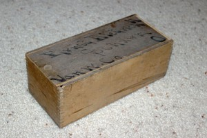 Wooden box that once belonged to Ernst Dietrich.