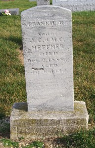 Frankie B. Heffner, Zion Lutheran Cemetery, Chattanooga, Mercer County, Ohio. (2011 photo by Karen)