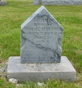 Orah M. Heffner, Zion Lutheran Cemetery, Chattanooga, Mercer County, Ohio.