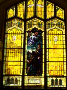Zion's south window, given in honor of Henry and Mary Baker. (2011 photo by Karen)