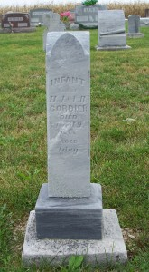 Infant Son of H.J. & L.B. Cordier, Zion Lutheran Cemetery, Mercer County, Ohio. (2011 photo by Karen)