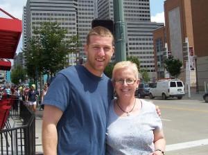 Todd Frazier, Reds' 3rd baseman, and Karen. (2012 photo)