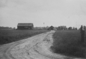 Windmill on Miller farm, Mercer County, Ohio. Unknown date.