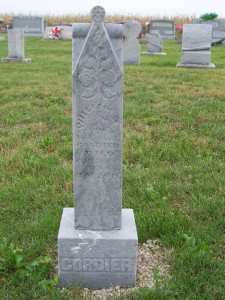 William H. Cordier, Zion Lutheran Cemetery, Chattanooga, Mercer County, Ohio. (2011 photo by Karen)