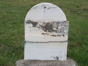 Eliza, wife of Franklin, ages 30 years, 4 months, 18 days. Zion Lutheran Cemetery, Mercer County, Ohio. (2011 photo by Karen)