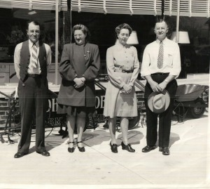 Left to right: Luther & Gladys (Sapp) Fisher; Mildred (Bauer & John Fisher.