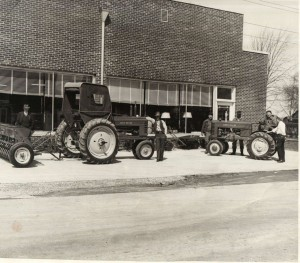Fisher Hardware & Implement Store, likely taken at their 10th anniversary, 1947.