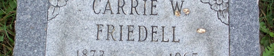 Carrie W. Friedell, Zion Lutheran Cemetery, Chattanooga, Mercer County, Ohio. (2011 photo by Karen)