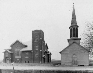Another view of both churches.