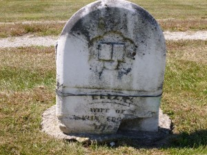 Eliza (Bobo) Edgington, Zion Lutheran Cemetery, Chattanooga, Mercer County, Ohio. (2015 photo by Karen)