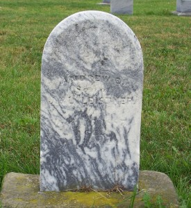 Andrew E. Leistner, Zion Lutheran Cemetery, Chattanooga, Mercer County, Ohio. (2011 photo by Karen)