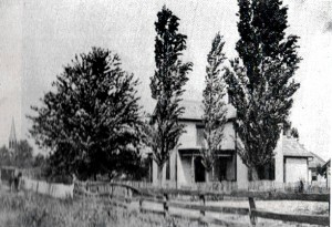 The old parsonage, south of the Lutheran School, c1900.