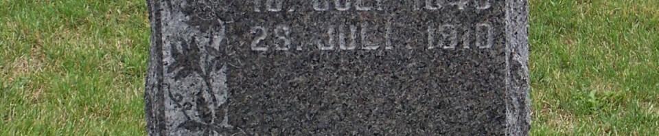 Sophie Schulz, Zion Lutheran Cemetery, Mercer County, Ohio. (2011 photo by Karen)