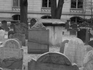 King's Chapel Burying Ground, Boston (2009 photo by Karen)