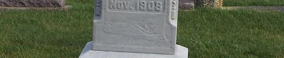 Georg Linn, Zion Lutheran Cemetery, Chattanooga, Mercer County, Ohio. (2011 photo by Karen)