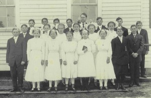 1911 Confirmation class with Rev. George Haas.
