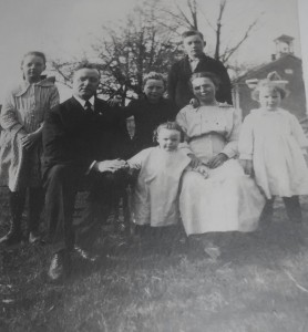 Heuer family, about 1918-1919.