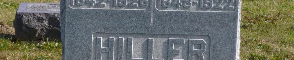 Jacob & Martha Hiller, Kessler Cemetery, Mercer County, Ohio. (2015 photo by Karen)