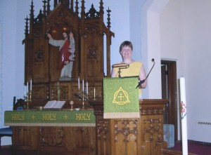 Rev. Kathy Gerking, at Zion Chatt, 2004.