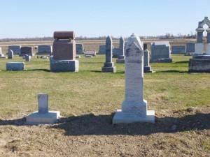 Maria Berron; small unreadable stone, row 3.