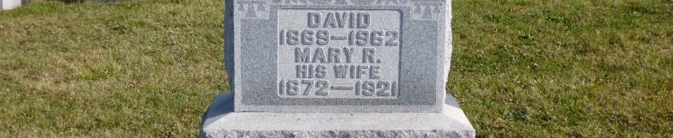 David & Mary R. (Hiller) Berter, Kessler Cemetery, Mercer County, Ohio. (2015 photo by Karen)