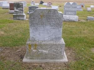 Edna & Alma Berger, Kessler Cemetery, Mercer County, Ohio (2015 photo by Karen)