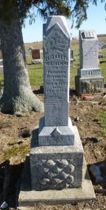 Elizabeth Wilhelmina (Hiller) Huffman, Kessler Cemetery, Mercer County, Ohio (2015 photo by Karen)