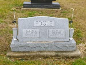 Glenn E. & Mary A. (Cummins) Fogle, Kessler Cemetery, Mercer County, Ohio. (2015 photo by Karen)