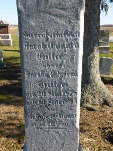 Jacob Edward Hiller, Kessler Cemetery, Liberty Township, Mercer County, Ohio. (2015 photo by Karen)
