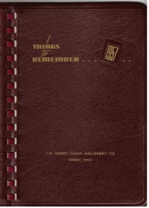 1957 Date Book used by Florence Miller.