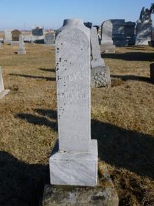 Mary Ursula Hiller, Kessler Cemetery, Mercer County, Ohio. (2016 photo by Karen)