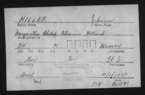 Johann, Margaretha, Philip, Catharina, & Gertraud Hiller immigration record.