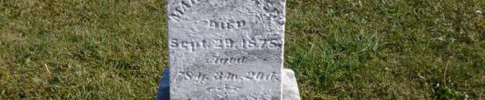 Mary M. Hiller, Kessler Cemetery, Liberty Township, Mercer County, Ohio. (2015 photo by Karen)