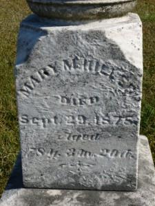 Mary M. Hiller, Kessler Cemetery. (2015 photo by Karen)