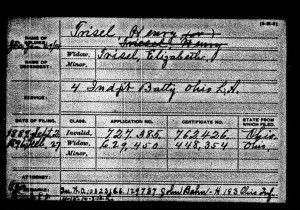Henry Trisel Civil War Pension