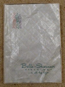 Original tissue paper in box of hose.