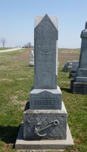 John H & Elizabeth Trisel, East Bethel Cemetery, Blackcreek Township, Mercer County, Ohio. (2016 photo by Karen)