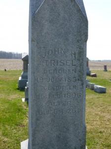 John H Trisel, East Bethel Cemetery. (2016 photo by Karen)